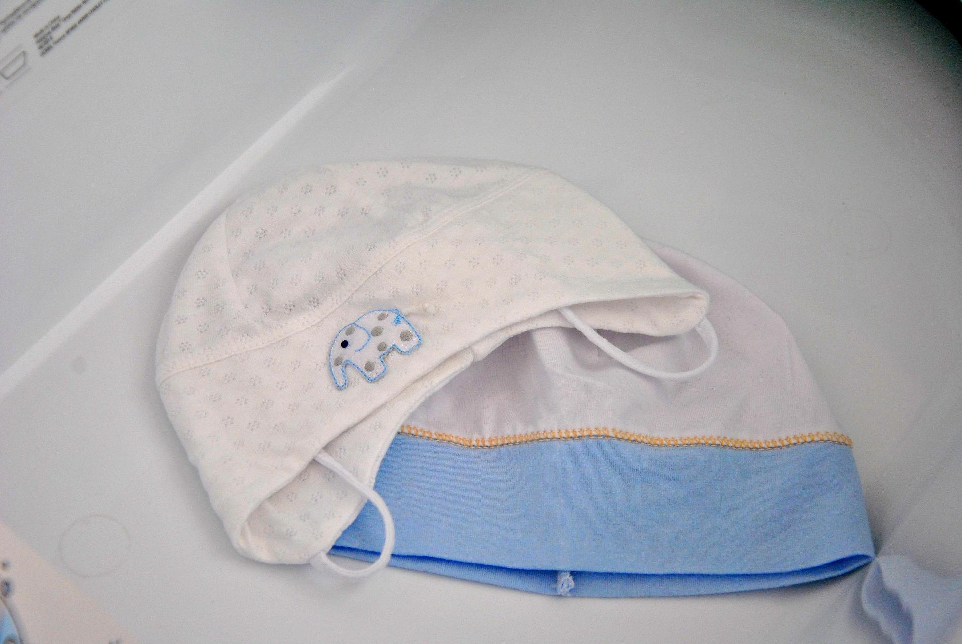 Bawełniane czapeczki po kąpieli