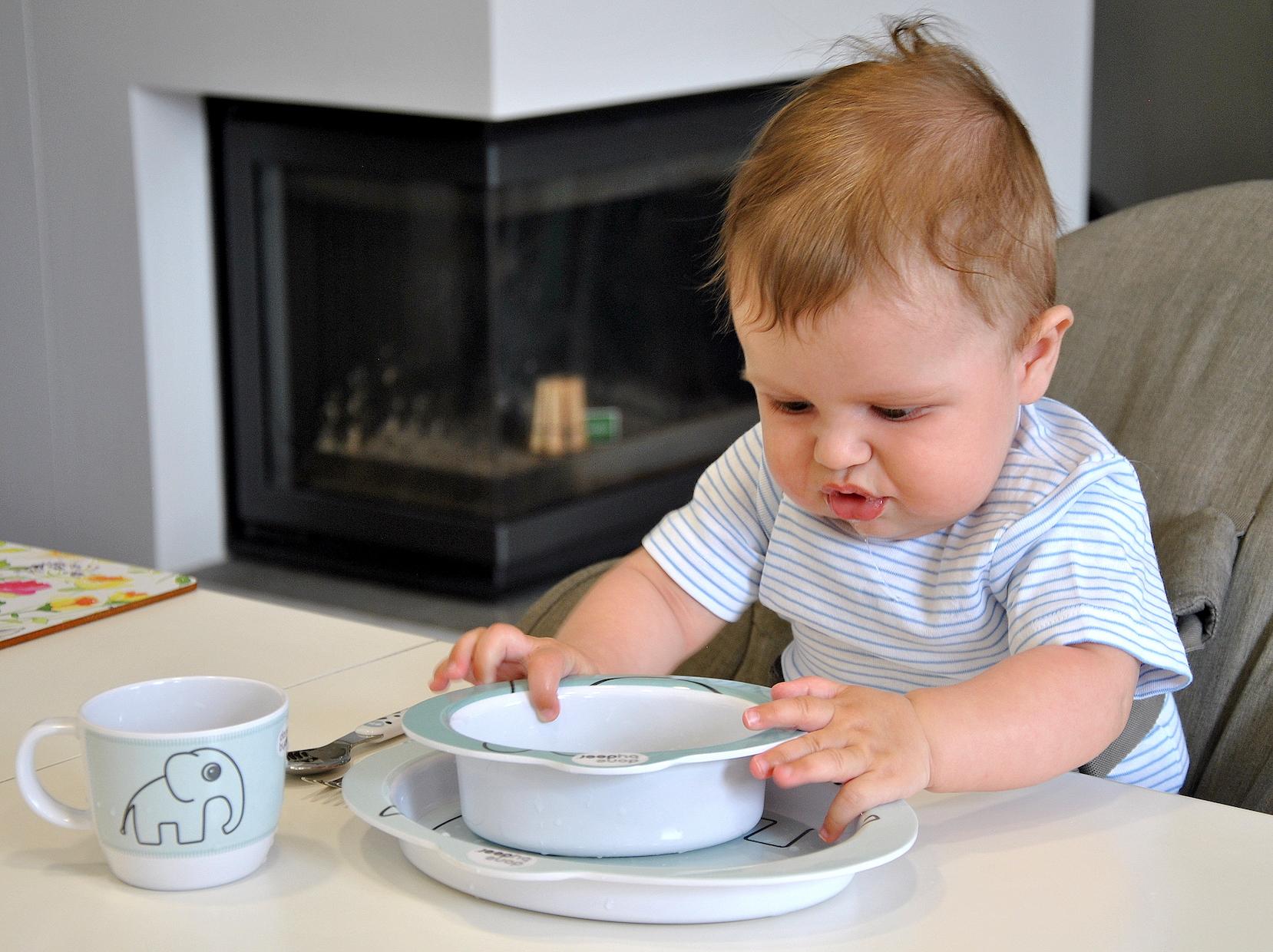 zestaw obiadowy dla niemowlaka