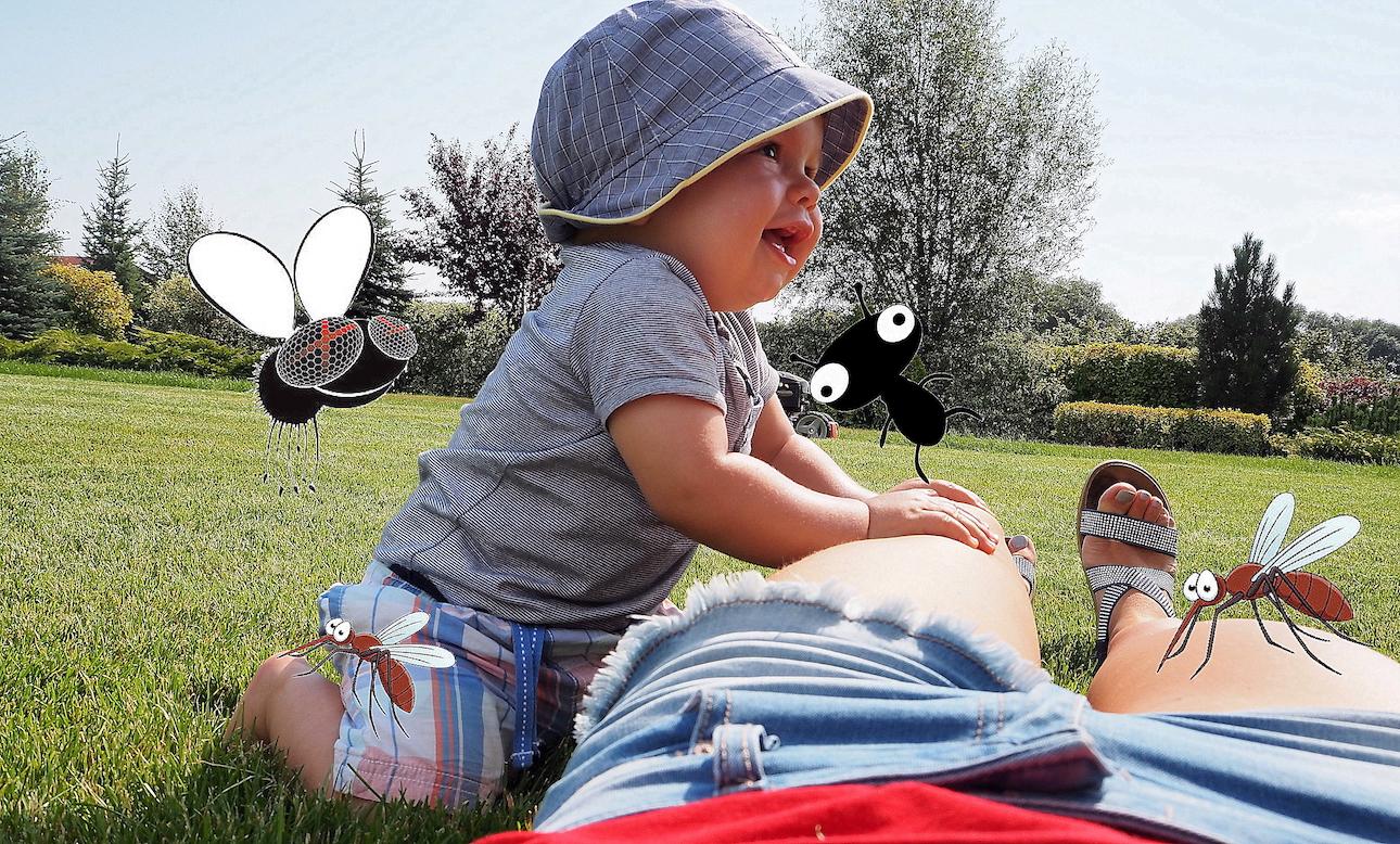 Co w trawie piszczy, czyli przegląd środków chroniących malucha przed owadami