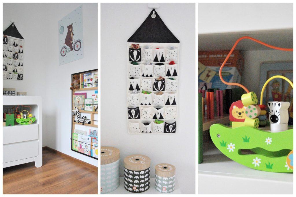 kącik na książki w pokoju dziecka