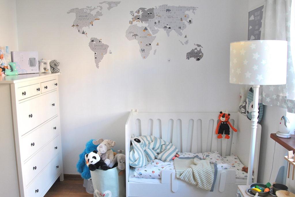 mapa naklejka dla chłopca