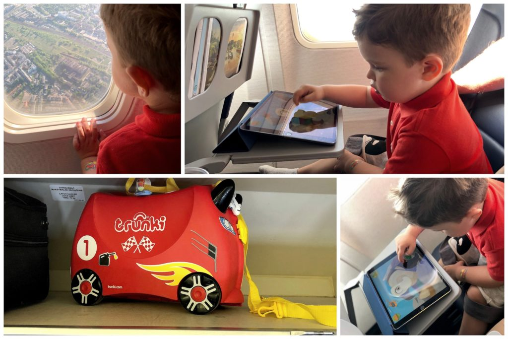 wyjazd samolotem z dzieckiem