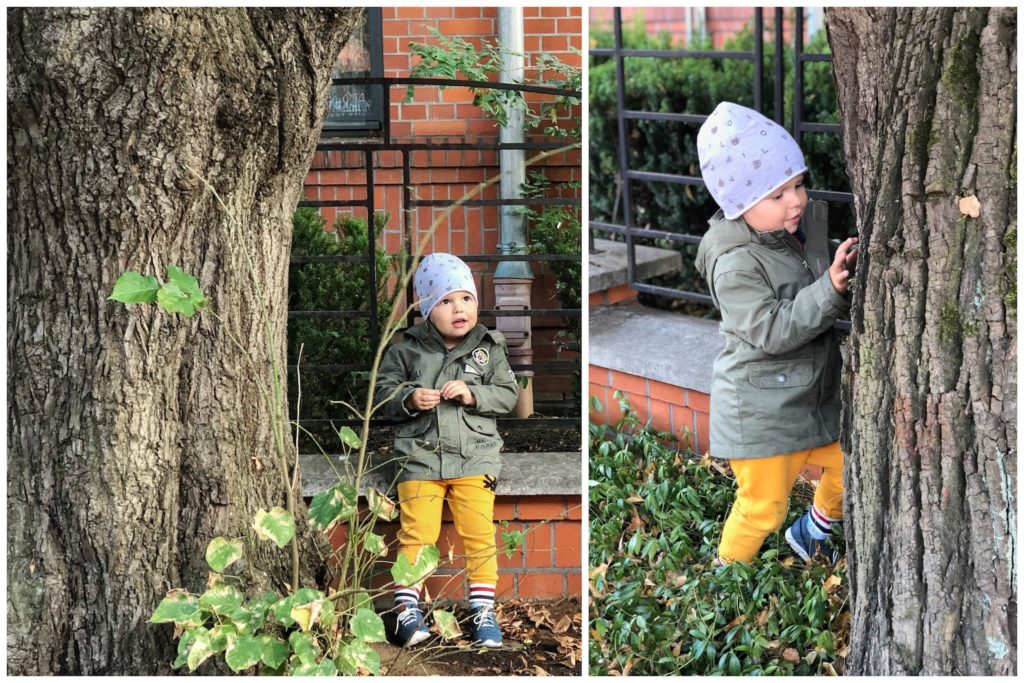 spacer parka zieleń moda