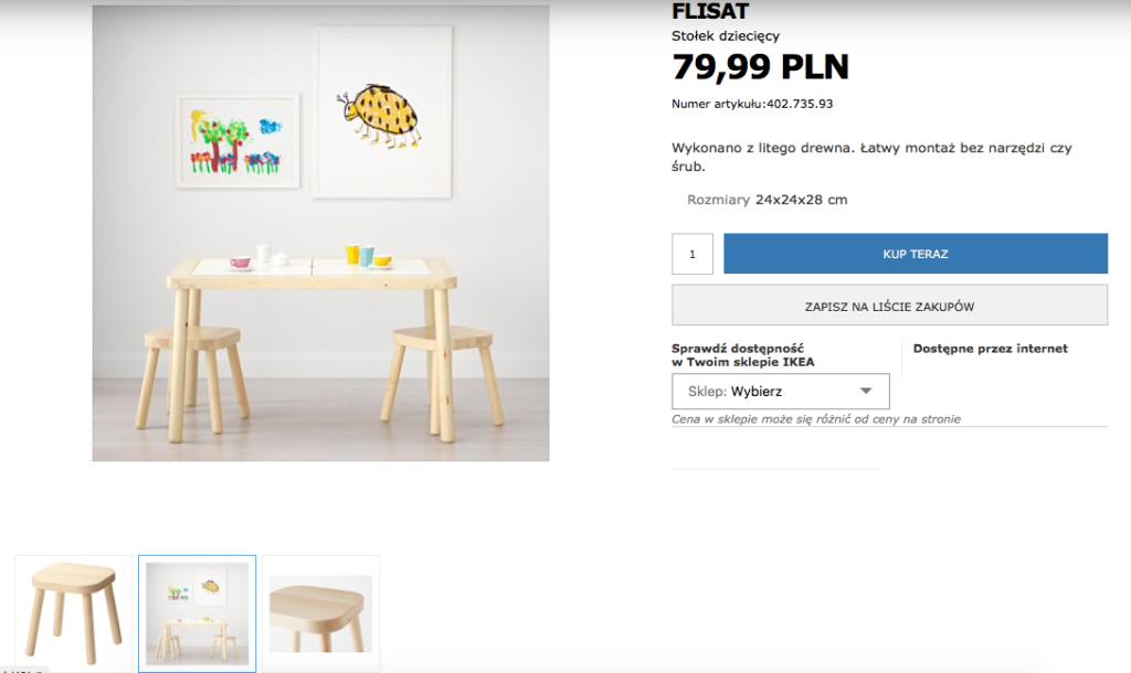 stołek dziecięcy do pokoiku