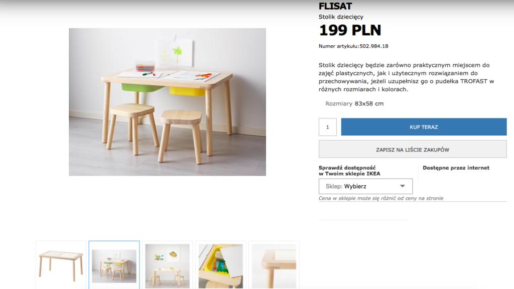 stolik do pokoiku dziecięcego