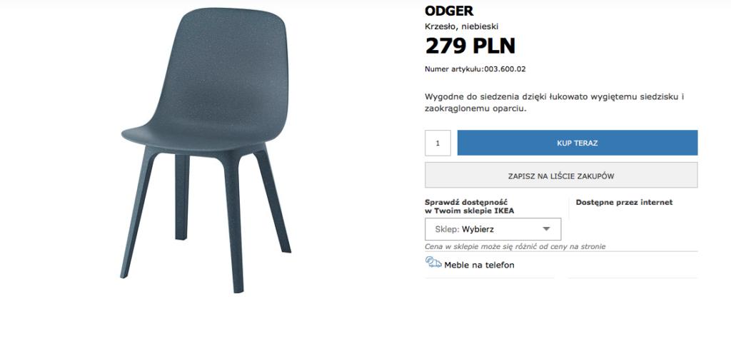 KRZESŁA IKEA NOWOCZESNE