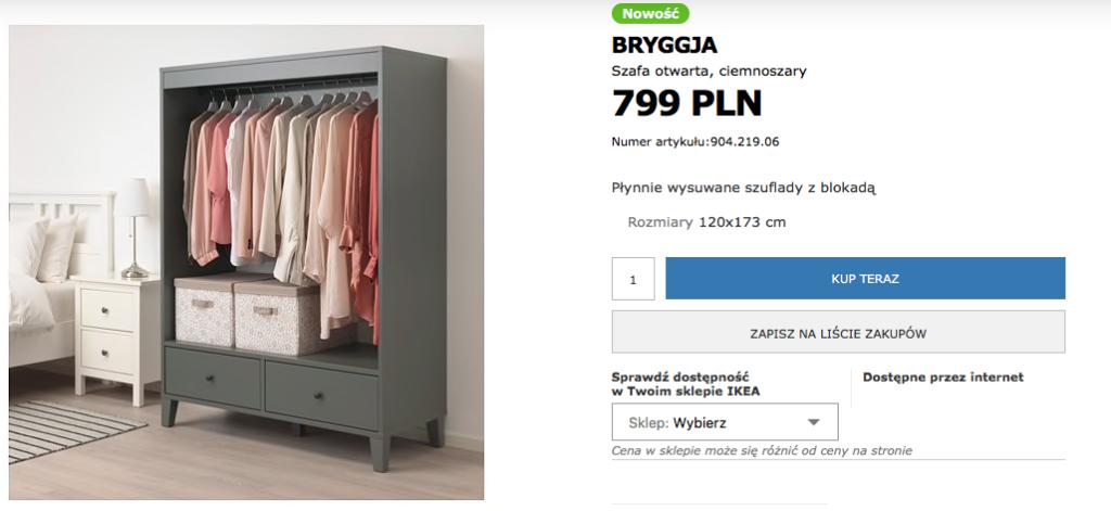 OTWARTA SZAFA IKEA